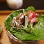 Shinohara - 近江八幡泳ぎ鮎の背越し・野洲川の鯉・わさびの葉