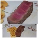 鉄板焼なか乃 - ◆1回目・・絶妙の焼き加減ですし、甘みを感じる美味しいお肉ですこと。