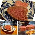 鉄板焼なか乃 - ◆この日のお肉は鹿児島産、これで200g。