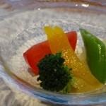 鉄板焼なか乃 - 先付・・新鮮野菜バーニャカウダソースで。