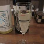 50675503 - シャンパングラスで日本酒が飲めます