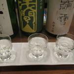 50675529 - お通しの日本酒の見比べセット