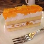 珈琲 文明 - 桃とりんごのケーキ