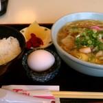 樹里 - 日替り野菜ラーメン定食650円 ごはん、卵、コーヒー付