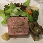 50685662 - 「お肉のテリーヌとスナギモのコンフィー」