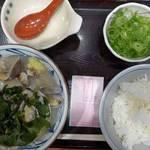 丸亀製麺 - 春のあさりうどん&ご飯