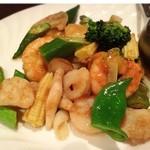 中国菜 秀 - (2016.4)海の幸のサテソース炒め