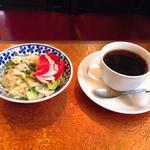 コーヒー苑 - セットコーヒー、サラダ