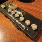 きんぎょ - 福岡の穴子炙りと長崎の泳ぎ鯖(ごま鯖)1