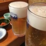朝日鮨 - 冷え冷えビール