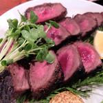 仙人小屋 - 201604 鹿肉は馬肉や牧草牛に近いさっぱりした赤身の味わい