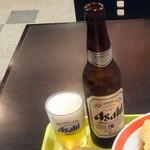 都そば - ビール330円
