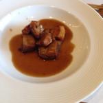 厨 NAKAMURA - 黒甘酢 豚の角煮 中華のようなテイスト
