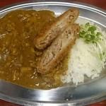 中華料理 八戒 - チキンカレー(ミンチカツのせ)今月のサービスランチ