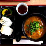道の駅草津 グリーンプラザからすま ベジカフェ - 料理写真:近江牛カレーうどんと近江おにぎり