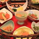 穂高城 - 朝食の一部