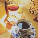こばとカフェ - サイフォンのコーヒー