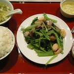 507372 - 芝エビと小松菜の炒め