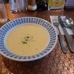 レストラン 西洋軒 - タンシチューとエビフライのセットについているスープ