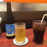 きじむなぁ - ノンアルコールビール380円とコーラ200円