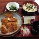 つる - 料理写真:ソースカツ丼セット