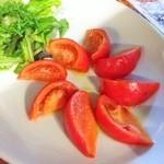 50703680 - フルーツトマトとモッツァレラ 500円                       …モッツァレラどうした?