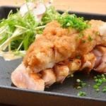 赤鶏もも肉のたたきポン酢
