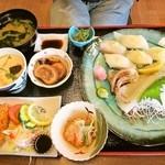Keinohamanosato - スルメイカづくし御膳 1,800円