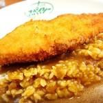 スパイシー - 白身魚フライカレー500円