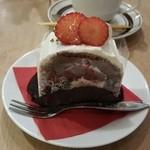 50709622 - フランボワーズとチョコのケーキ