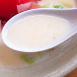 ラーメン専科めんや - スープ