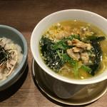 隆麺 - 貝塩:800円 と、ディナー丼セット:350円