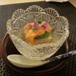 50719252 - 箸染め(前菜)。栗梅5,400円