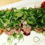 塩糀バル遊 - 牛肉の炙り焼き