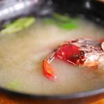 かあちゃん - 鼈甲寿司の伊勢海老味噌汁