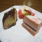 ル・スゥブラン - プラリネピスターシュ(370円)、桜(360円)、苺のカプレーゼ(380円)
