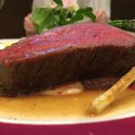 北島亭 - イチボ肉のステーキ160g