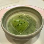 北島亭 - メロンのスープ