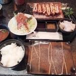 とんかつ マンジェ - 「アンコールペッパーとんかつ定食」(1,530円込み)(2016年5月)