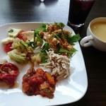 ル シエル クレム - サタデーフレンチビュッフェ(1480円) 前菜・ドリンク・スープ
