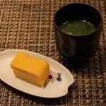 鯛良 - ■アラ汁と卵