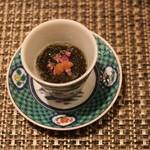 鯛良 - ■先付け:石川県産岩もずく(花穂紫蘇と梅肉添え)