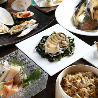 """新鮮な『貝』を存分に味わう""""贅沢""""宴会コース3種♬"""
