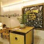 コーヒー&ジェラート ザ カップス - 1階の黒板描きチョークボーイのアート