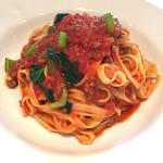 50727032 - 生パスタランチ  牛ミンチと緑野菜のトマトソース