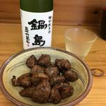 50729391 - 鍋島と砂肝ピリ辛炒め