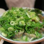 丸亀製麺 - あさりうどん590円(ネギ、生姜、すりごまのせ)