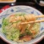 丸亀製麺 - 油麩玉子とじうどん490円麺