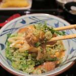 丸亀製麺 - 油麩玉子とじうどん490円油麩