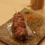 炭火焼鳥 榊 - 団子(つくねですが、軟骨いりでおいしいです)